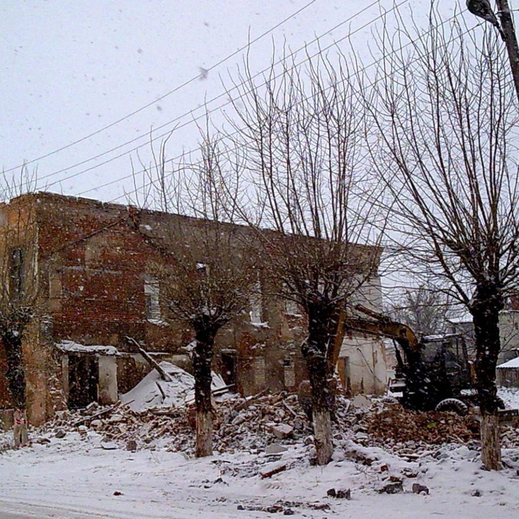 Разрушение Истории Скопина. (фото С. Мохов)