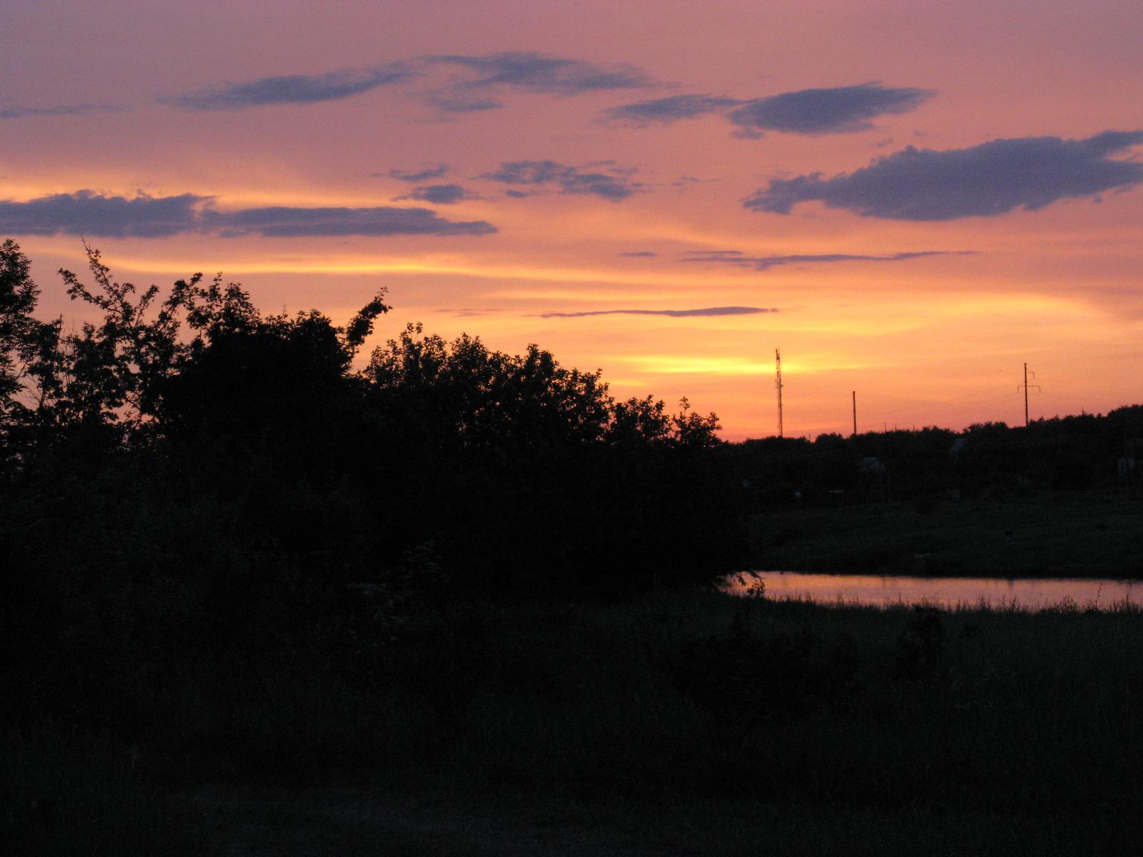 Вид на дачи со стороны пруда на Сельхозтехнике