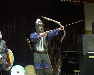 Военно-исторический клуб «Кольчуга» провел отчетное выступление